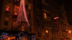 Restaurant owners and residents in Little Italy sure do know how to decorate for the holidays!