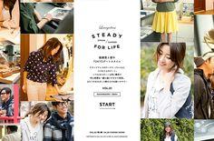 STEADY FOR LIFE 絵美里と彼のTOKYOデートスタイル | Web Design Clip 【Webデザインクリップ】