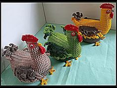 Crochet Animal Patterns, Stuffed Animal Patterns, Crochet Animals, Knitting Patterns Free, Dinosaur Stuffed Animal, Crochet Mandala, Crochet Art, Crochet Chicken, Chickens And Roosters