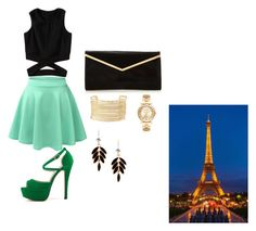 """""""Outfit"""" by mbelma ❤ liked on Polyvore featuring LE3NO, Charlotte Russe and Michael Kors"""