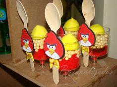 Leka Personalizados: ANGRY BIRDS DO HENRIQUE Bolos no copo! Amei!