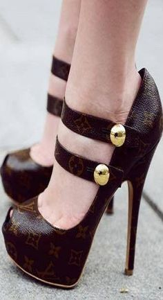LV Heels ♥✤ | KeepSmiling | BeStayClassy