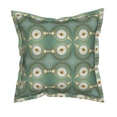 Serama Throw Pillow featuring astrolabe  by winter | Roostery Home Decor