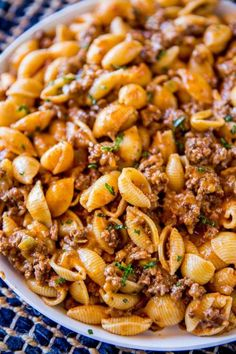 Cheesy Taco Pasta is easy to make and tastes like the Hamburger Helper you used to eat as a kid except better. Much better.