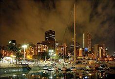 Night Durban / Ночной Дурбан Africa Travel, Seattle Skyline, East Coast, South America, African, City, Sunrises, Mole, Beautiful