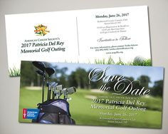 American Cancer Society Patricia del Rey Memorial Golf Outing held on Staten Island, NY save the date design