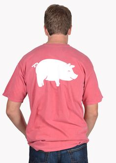 Curly Tail Big Pig Pocket Tee Design