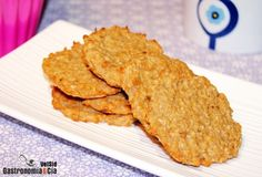 Galletas de avena y compota de manzana (2 ingredientes)