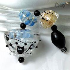 TRIZAS-ORIGINAL  Handmade lampwork pendant bead  - TOS0305 SRA #TRIZASOriginal #Lampwork