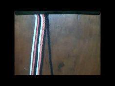 Cómo retorcer hilos para gasas wayuu. - YouTube