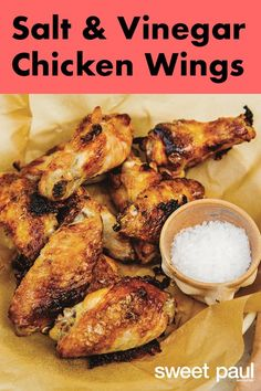Carla Hall taught me about the wonders of vinegar powder. It's why her fried chicken is so good, and it gives these wings a crispy surface.For extra-crispy wings, pat the chicken dry before it goes into the oven.