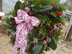 I love the red and white scheme of this wreath https://thegardendiaries.wordpress.com/2016/12/13/holly-love-the-art-of-wreath-making-at-mclean-nursery/