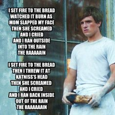 A parody of Adele's Set Fire to The Rain. Sang by Peeta Mellark. x) Set Fire to The Bread ~ Hunger Games Parody x) Hunger Games Memes, Hunger Games Fandom, The Hunger Games, Hunger Games Trilogy, Johanna Mason, Katniss Everdeen, Funny Celebrity Pics, Funny Celebrities, Lying Game