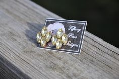 Rose Emblem Earrings in Yellow by Tiffany Rose Designs