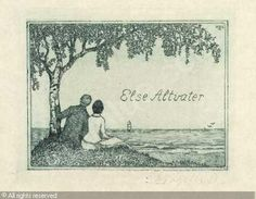 Bookplate by Heinrich Johann Vogeler for Elise Altvater, ??