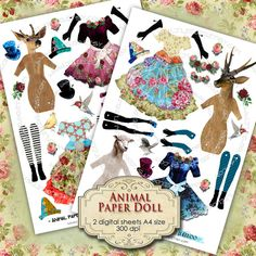 ANIMAL PAPER DOLL digital altered art  Digital by byJLeeloo