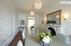 Stylish dining room at 'Heavenly Hammersmith', West London.