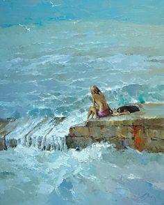 Oil painting by Alexei Zaitsev http://www.pinterest.com/marimonte58/au-bord-de-la-mer/