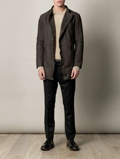 John Varvatos  Double-breasted suede coat (142330)  €1,618