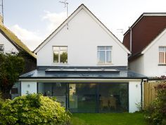 This home in Hove has been transformed with a modern, open plan extension. Sam and Alistair Thomson created a new open plan living area. Roof Extension, Extension Ideas, House Extensions, Kitchen Extensions, Fibreglass Roof, 1930s House, London House, Moving House, Flat Roof