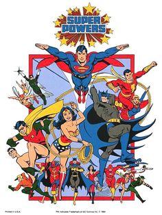 Super Powers by José Luis García-López. Never appreciated Lopez's art until I got older. Clean, crisp, great design.