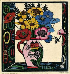 One of my favourite artworks, reminds me of my gran - Margaret Preston : Pink Jug : 1925