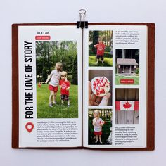 jess_forster: I love the versatility of the stamp set from August digital set. Love that title for this Canada Day spread. Ali Edwards, Splash Pad, Canada Day, Memory Books, Canada Travel, Travelers Notebook, Notebooks, Journals, Paper Crafts