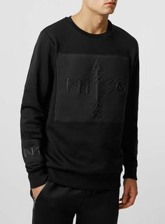 N1SQ Black Crew Neck Jumper* - TOPMAN EUROPE