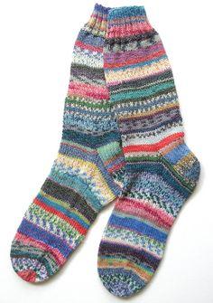 Crazy Socks  Cotton Blend by BellaBlueKnits on Etsy