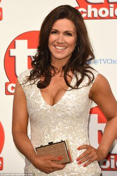 Glossy tresses:The TV presenter, who's presenting an award at the swanky ceremony, comple...