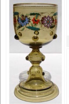 Antique Bohemian Theresienthal glass