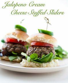 Cream Cheese Jalapeno Stuffed Sliders