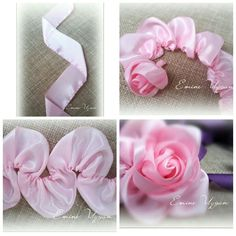 Wonderful Ribbon Embroidery Flowers by Hand Ideas. Enchanting Ribbon Embroidery Flowers by Hand Ideas. Satin Ribbon Flowers, Cloth Flowers, Ribbon Art, Fabric Ribbon, Ribbon Crafts, Flower Crafts, Fabric Flowers, Tulle Flowers, Scrap Fabric