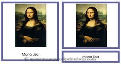 Leonardo Da Vinci Art Cards - 6 works of Leonardo Da Vinci in a 3-part art card series