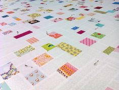 Confetti Quilt - bee quilt from Paloma of Three Kitchen Fairies