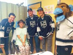 #LAKings' Williams, Quick, Doughty, & Bailey visiting Children's Hospital LA