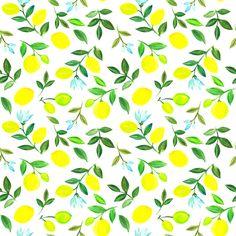 Watercolor lemons fabric by dariara on Spoonflower - custom fabric