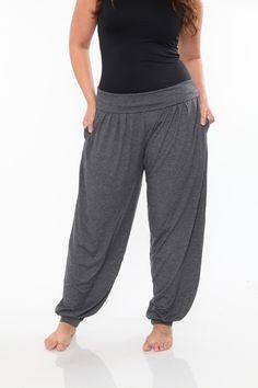 Plus Size Charcoal Harem Pants
