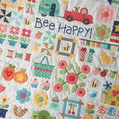 YaY!!! All blocks for my Bee Happy Quilt are put together:) I super love each and every block and I cannot wait to teach you/show you how to do them during the sew along! Just a reminder: My Bee Happy Quilt Pattern will be a free PDF download to those who are joining my sew along in August! I designed this pattern to celebrate the release of my new fabric collections that this quilt is made with:) Check out the hashtags to see all of the fabric- #beebasics #beebackgrounds…