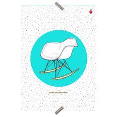 """Poster Cadeira """"Armchair RAR"""" Coleção Mercatto Casa e Apto 41"""
