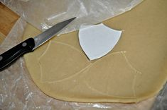 Make your own shield cookie shape
