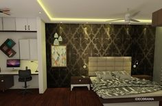 Design Of House, bedroom in Adarsh Palm Retreat by TRIO DISEÑO | iDecorama