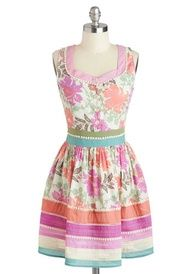 Wearing florals and pastel to a springtime party is the only way to go, and the Garden Party Darling Dress has both.