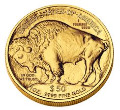 "One Ounce Gold American Buffalo (Reverse). This coin has gained its nickname, ""Gold Buffalo"", from the American Bison on the reverse side of the design."