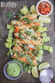Black Bean Flautas with Avocado Dipping Sauce are gluten free, vegan, and full of flavor!