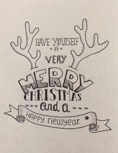 Christmas Art Projects, Diy Christmas Cards, Christmas Crafts, Xmas, Hand Lettering Quotes, Lettering Styles, Holidays And Events, Cool Drawings, Creative