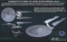 """Constitution class [AU] by unusualsuspex.deviantart.com on @DeviantArt - U.S.S. Enterprise NCC-1701 - """"Star Trek"""" (2009) & """"Star Trek Into Darkness"""" (2013)"""