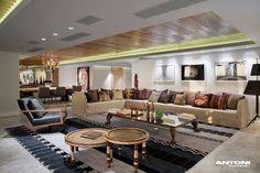 Clifton Ansicht Mansion von Antoni Associates mit Blick auf Cape Town-Südafrika: zeitgenössische Anzeige luxuriöse Innenarchitektur luxuriöse Wohnzimmer