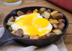 Who says Eggs and Sausage are only for mornings? Try this Bakeable Breakfast Skillet made with Johnsonville Breakfast Sausage Links and have Breakfast for Dinner! Breakfast Sausage Links, Breakfast Skillet, Savory Breakfast, Breakfast Time, Breakfast Recipes, Egg Skillet, Breakfast Potatoes, Easy Egg Recipes, Great Recipes