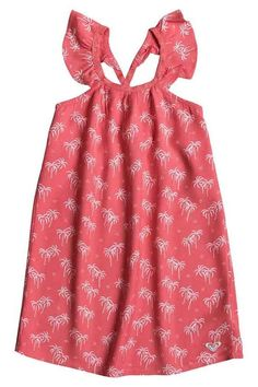 This incredibly sweet ruffle sleeve dress is a must have. The cute plan tree pattern with the herringbone trim that has the slightest gold sparkle woven in it will have your little one twirling like a princess! Girls Summer Dress by Roxy Girl. Clothing - Dresses - Casual Oregon